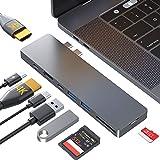 HOTUCG USB C Hub, MacBook Pro Air Adapter, 8 IN 1 USB-C 100W PD, Dual HDMI 4K, 2 USB-A 3.0 & USB-C,...