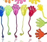 12x Klatschhand Kinder Bunte Glibberhand Mitgebsel - Giveaway - Jungen - Mädchen Kindergeburtstag