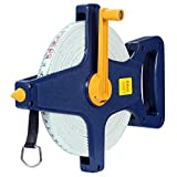 Deuba Rollbandmaß 50m/165 Ft Beidseitig markiert Fiberglas Öse Maßband Bandmaß Messband Rollmeter Rollmaßband