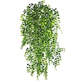 MIHOUNION Künstliche Ivy Vine 2 Stücke Künstliche Aufhängen Vine Pflanzen Gefälschte Kunststoff Grün Ivy Garland für Hochzeit Wand Im Freien Hängen Pflanzer Zaun Spalier