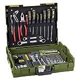 PROXXON Handwerker-Universal-Werkzeugkoffer, L-BOXX-System L 102, 69-teiliges Werkzeug-Set, Mit Hammer, Knipex-Zangen, Ratsche und Steckschlüsseleinsätze, 23660