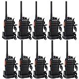 Retevis RT24 Plus Funkgerät Set, PMR Lizenzfrei Profi Funkgeräte mit Headset,16 Kanäle Wiederauflabar USB Ladeschale, IPx4 Wetterschutz Walkie Talkies, für Schule,Transport(10 STK, Schwarz)