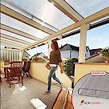 ACRYLSHOP24 Terrassendach Terrassenüberdachung Carport Komplettset Polycarbonat 16mm 3-Fach Stegplatten farblos klar 16mm Stegplatten Tiefe:3000mm|Breite:4100mm - Mehrere Maße verfügbar