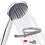 Newentor® Duschkopf mit Schlauch Handbrause mit 5 Strahlarten Duschbrause mit Schlauch Duschköpfe mit 1,5M Schlauch, Duschkopf Sparsam, WassersparFeiner Strahl
