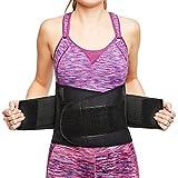 sit right Rückenbandage - Stabilisierungsgurt aus Thermomaterial mit zweifach verstellbaren Bändern für den perfekten Sitz - Rückenstütze für Männer & Frauen – schwarz – Vers. Größen (S-M)