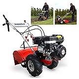 HECHT Benzin-Gartenfräse 750 Motorhacke Kultivator Bodenhacke Bodenfräse Fräse (Motorleistung: 4,3 kW (5,9 PS), 50 cm Arbeitsbreite, 4 Kreisel mit je 3 Messern)