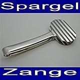 Land-Haus-Shop Edelstahl Spargelzange 24 cm, Spargel Serviel Portonier Küchen Fisch Greif Zange (LHS)
