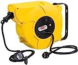Brennenstuhl Kabeltrommel Automatik IP44 / Automatischer Kabelaufroller für aussen (16+2m Kabel, für Wand- und Deckenmontage, IP44) gelb, 40 x 20 x 30 cm, 1241000300