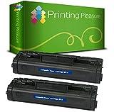 Printing Pleasure 2er Set Premium Toner Schwarz kompatibel für Canon LBP-210, LBP-220, LBP-310, LBP-320, LBP-440, LBP-445, LBP-460, LBP-465, LBP-660, HP Laserjet 3100, 3150, 5L, 5L Xtra, 6L, 6LSE
