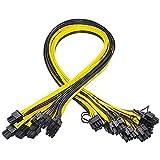 Kamenda 10 StüCk 6 Pin PCI-E Bis 8 Pin (6 + 2) PCI-E (Stecker zu Stecker) GPU Strom Kabel 50 cm...