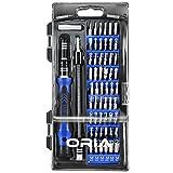 Oria 60 in 1 Schraubendreher Set mit 56 Bits Magnetisches Schraubendrehersatz Werkzeugset für Handy, Tablet, PC, Macbook, Uhr etc – Blau