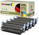 TONER EXPERTE® 5 Premium Toner kompatibel zu HP 124A Q6000A Q6001A Q6002A Q6003A für HP Color Laserjet 1600 1600n 2600 2600n 2600dn 2605 2605d 2605dn 2605dtn CM1015 CM1017 MFP