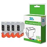 inkjello Kompatible Tinten patrone Ersatz für Canon Bubble Jet i250i320i350i450i450X i455i470D i475D MultiPASS MP360PIXMA iP1000iP1500iP2000MP110MP13024bk-24C (schwarz, Farbe 4er Pack)