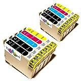 10x Epson Stylus SX218 Kompatible Druckerpatronen - Cyan/Magenta/Gelb/Schwarz - PATRONEN MIT NEUESTEN CHIP