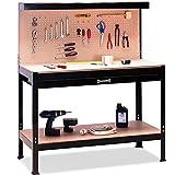 Deuba Werkbank | XXL 150x120x60cm | Lochwand | Profi Ausführung - Werkstatttisch Packtisch Werktisch Werkzeugwand