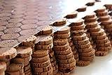 Korkboden Kork Mosaik Fliesen Bodenbelag Wandbelag 60 cm x 30 cm Stärke 6mm massiv / In- und Outdoor / Feuchträume / Bäder / Terrassen / Schwimmbäder / Wege (1)