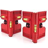 Haude Wasserwaage, magnetischer Pfosten-Wasserwaage, zusammenklappbar für Lagerung, Kreuz-Check-Wasserwaage (2 Stück)