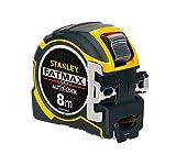 Stanley FatMax Pro Bandmaß Autolock (8 m Länge, 32 mm Klingenbreite, BladeArmor-Überzug, Bi-Material Gehäuse) XTHT0-33501