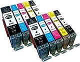10 kompatible YouPrint Druckerpatronen für Canon Pixma MG5750, MG5751, MG6850, MG7750, MG5750, MG5751, MG5752, MG5753, MG6850, MG6851, MG6852, MG7750, MG7751, TS5050, TS5051, TS5053, TS5055, TS6050, TS6051, TS6052, TS8050, TS8051, TS8052, TS8053, TS9050, TS9055 Ersetzen PGI-570BK XL, CLI-571C XL, CLI-571M XL, CLI-571Y XL Und CLI-571BK XL Mit Chip