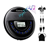 Gueray CD Player Tragbarer mit Lautsprecher Discman mit Integrierte 1400mAh-Akku Lithium-Batterie...