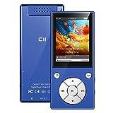 MP3 Player 32 GB 2,4' Bluetooth 5.0 Eingebauter Lautsprecher Metallgehäuse HiFi-Musik-Player, UKW Radio, Sprachaufzeichnungs, Videoplayer, Sportarmband, Unterstützung von bis zu 128 GB - Blau
