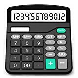 SPLAKS Taschenrechner 12-stellig Standard Function Tischrechner Bürorechner Rechenmaschine Solar-...