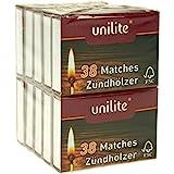Unilite von NA-und Streichhölzer 380 Holz Zündhölzer 10 Schachteln (6 Pack)
