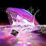 Esoes LED Unterwasser Licht Badewannenlicht Teich Pool Bunte Schwimmende Lampe Wasserdicht Party...