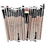 Vovotrade®Perfekt Make-Up Pinsel 20 Stück Make-up Pinsel Makeup Tools Toiletry Kit Wolle bilden Bürsten-Satz(Gold)