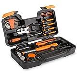 FIXKIT Werkzeugset im Koffer, 39 teilig Werkzeugkoffer, Werkzeug-Set Ideal Weihnachtsgeschenk für den Haushalt, Werkzeugkasten für den Haushaltsbereich Universal-Haushalts-Werkzeugkoffer