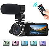 Camcorder Videokamera, ACTITOP FHD 1080P 30FPS 30MP IR Nachtsicht YouTube Vlogging-Kamera...