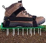 Ohuhu Rasenbelüfter Rasenlüfter Vertikutierer Rasen Vertikutierer Rasen Nagelschuhe, Universalgröße passt Schuhe oder Stiefel für Dein Rasen oder Hof