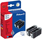 Pelikan Druckpatronen DoppelPack C11C11 ersetzt Canon BCI-3eBK, 2x Schwarz (pigment)