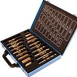 Timbertech spbr01–Bohrer-Set 200mit Gedrehte Form, für Holz, Kunststoff, Stahlblech und im Koffer, Metall)