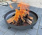 Czaja Stanzteile Feuerschale Bonn Ø 80 cm - mit Wasserablaufbohrung - Feuerschalen für den Garten, Terrasse und Balkon, Feuertonne und Feuerkorb , große Feuerstelle für den Garten