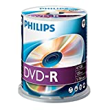 Philips DVD-R Rohlinge (4.7 GB Data/ 120 Minuten Video, 16x High Speed Aufnahme, 100er Spindel)