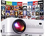 Mini Beamer 6000 Lumen, DBPOWER Heimkino Beamer, Unterstützt Full HD 1080P mit 50000 Stunden LCD, 200' Display Heimkino Beamer kompatibel, TV Stick / HDMI / VGA / USB / AV / Laptop / Smartphone