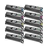 10 Toner kompatibel für Canon EP87 LBP 87 2410-7433A003-7430A003 - Schwarz je 5000 Seiten, Color je 4000 Seiten
