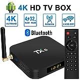 TV-Box Neue Ultra HD Android 9.0 TV-Box 4 GB RAM 32 GB ROM, Dual-WiFi 2,4 GHz / 5 GHz Bluetooth Quad Core 64 Bit 3D / 4K Full HD / H.265 / USB 3.0 Smart Android Box TV-Box