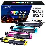 GPC Image Kompatibel Tonerkartusche als Ersatz für Brother TN241 TN245 TN242 TN246 für MFC-9332CDW 9142CDN 9140CDN 9342CDW DCP-9022CDW 9017CDW 9020CDW HL-3142CW(Schwarz Cyan Gelb Magenta, 4er-Pack)
