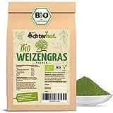 Weizengraspulver BIO (500g) Weizengras Pulver aus aus deutschem Anbau in Rohkostqualität vom Achterhof