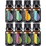 Ätherische Öle Set (8x10ml) - Essential Oil für Aromatherapie - Duftöl für Diffuser - 100% Rein Öle - Lavendel, Pfefferminz, Rosmarin, Orange, Teebaum, Eukalyptus, Zitrone, Anti-Stress Öl