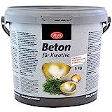 Viva Decor® Gieß-Beton für Kreative (5kg) Beton Deko - kreativ Basteln mit dem Bastelbeton zum Gießen - oder als Abformmasse für Deko - Made in Germany