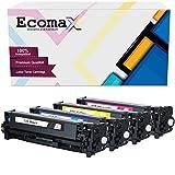 4 Ecomax Kompatibel Tonerkartusche als Ersatz für Canon I-Sensys LBP-7100CN LBP-7110CW MF8200 8230CN MF8280CW ImageClass - CRG-731 731M 731Y 731C 731BK