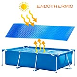 Likecrazy Solarfolie Poolheizung Solarplane Rechteckige/Rund, blau - Solarabdeckung des Schwimmbades Solarplane Poolabdeckung Protector Fuß über dem Boden Blue Protection Swimmingpool