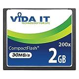Vida IT 2GB CF Compact Flash High Speed Speicherkarte 200X Geschwindigkeit 30MB/s IDE 50 Pin für...
