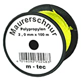 Lot-Maurerschnur 100 m x Ø 2,0 mm Gelb-Fluoreszierend