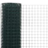 Gartenzaun | maschendrahtzaun Drahtgitter Stahl mit PVC-Beschichtung - Hundezaun Katzenzaun Hühnerzaun | 10 x 1,5 m 25 x 25 mm Quadrat Drahtgeflecht grün | Verschiedene Größen und Farben