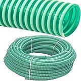 FITT Spiralschlauch PVC Druckschlauch und Saugschlauch Meterware 1 bis 4 Zoll (2 Zoll / 50 x 3.4mm)