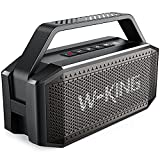 Bluetooth Lautsprecher, W-KING 60W Grosse Bluetooth 5.0 Box Musikbox Bass Boost, Lautester Tragbarer Kabelloser Lautsprecher IPX6 Wasserdicht, 40H Spielzeit, 12000mAh Powerbank, mit NFC, Mikrofon, AUX